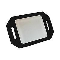 Зеркало для клиентов №986 прямоугольное, с двумя ручками, небьющееся (в ассорт.) №5562