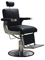 AS-7784 Кресло парикмахерское для барбершопа (черное, гладкое)