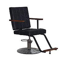 AS-7171 Кресло парикмахерское (черное, гладкое)