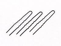 Шпильки для причесок черные (ср) 888-2 (300 шт.) №34210