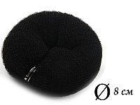 Валик для объема волос Q-66 черный Ø 8 см на кнопке AISULU (м) №11196(2)