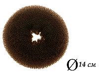 Валик для объема волос Q-65 темно-коричневый Ø 14 см AISULU (б) №11240(2)
