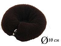 Валик для объема волос Q-66 темно-коричневый Ø 10 см на кнопке AISULU (ср) №11264(2)