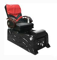 F-9827 Кресло педикюрное с джакузи (черно-красное, гладкое)