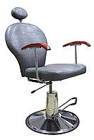 SH-83001 Кресло парикмахерское с откидной спинкой (серое, крокодил)