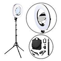 Лампа для визажиста кольцевая, LED Soft RL-18 Ø42, напольная №81441(2)