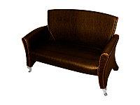 H-7018 C Скамейка для клиентов (коричневая, дождик)