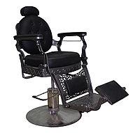 AS-7760 Кресло парикмахерское для барбершопа (черное, гладкое)
