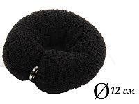 Валик для объема волос Q-66 черный Ø 12 см на кнопке AISULU (м) №70841(2)