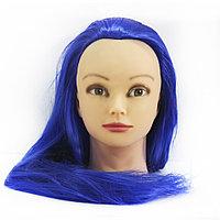 Болванка учебная для парикмахера ТМ-002 исскуст. волосы 55 см (темно-синий) №16292