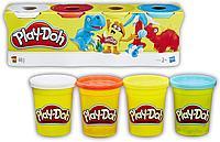 Пластилин Play-Doh Плей-До Набор 4 баночки Hasbro