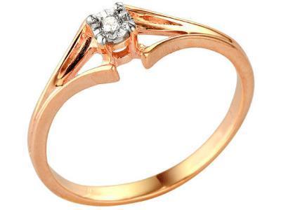 Золотое кольцо РусГолдАрт 189003_1_5_1_17