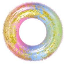 Радужный круг надувной для плавания 60см