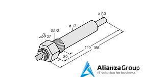Датчик потока TURCK FCS-G1/2HC4-NAEX0/L140/D024 5M