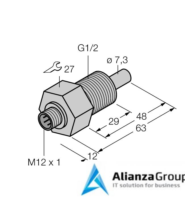 Датчик потока TURCK FCS-GL1/2HC22-NAEX-H1141