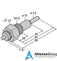 Датчик потока TURCK FCS-G1/2HC4-NAEX/L065/D100