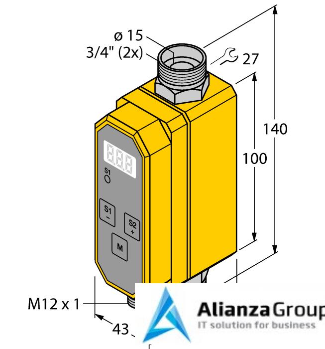 Расходомер TURCK FCMI-3/4D12DYA4P-LIUP8X-H1141