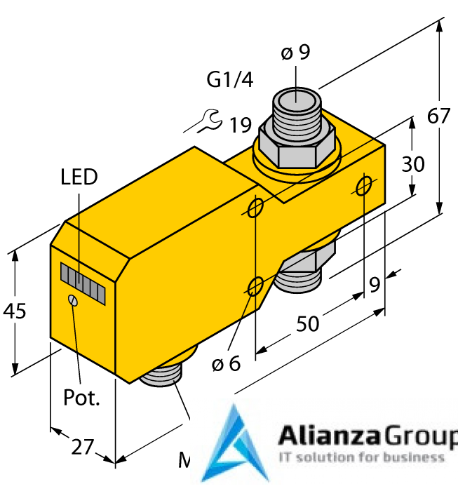 Датчик потока TURCK FCI-D10A4P-ARX-H1140/A