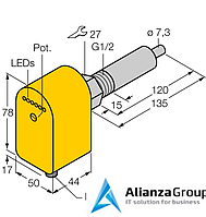Датчик потока TURCK FCS-G1/2A4P-LIX-H1141/L120
