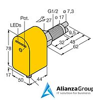 Датчик потока TURCK FCS-GL1/2A2P-AP8X-H1141/A