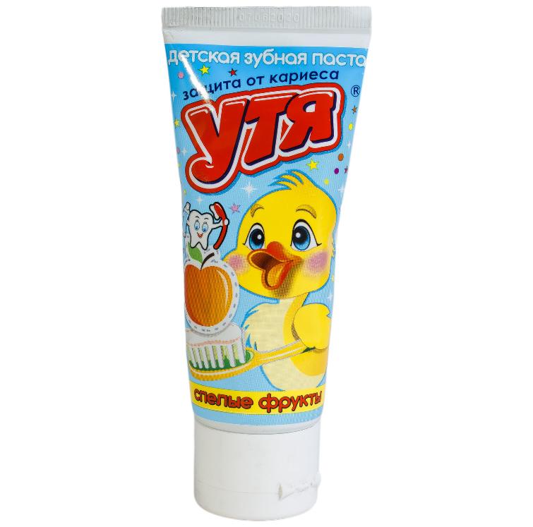 """Зубная паста детская """"Утя"""" спелые фрукты  60мл"""