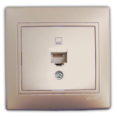 Розетка компьютерная жемчужно-белый перламутр Мира 701-3030-139