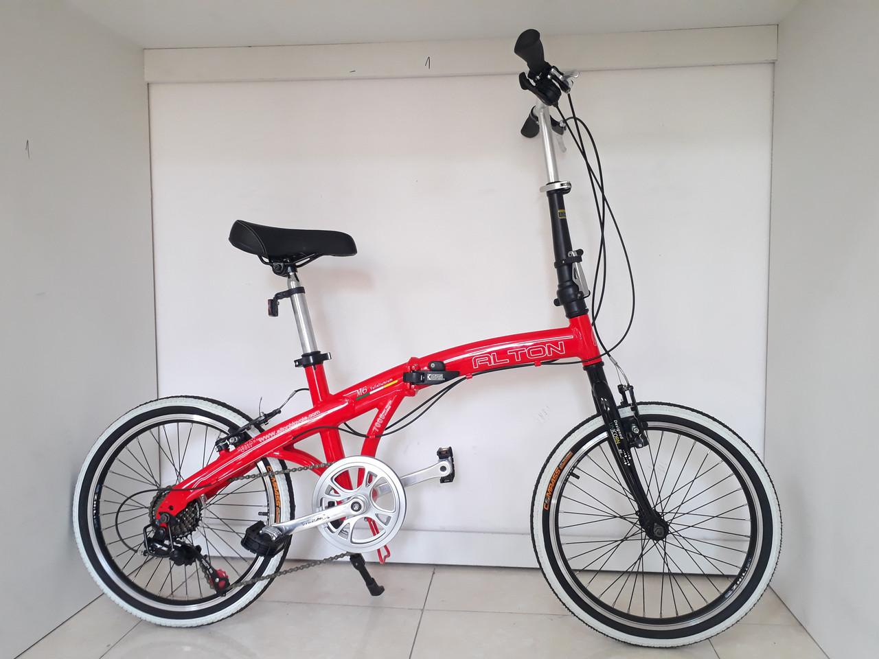 Складной легкий велосипед Alton на 20-х колесах со скоростями
