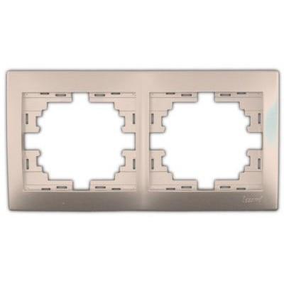 Рамка 2-ая горизонтальная б/вст. крем Мира 701-0300-147