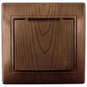 Розетка с/з с крышкой керамика сосна Мира 701-0801-123