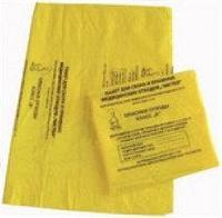 Пакет для медицинских отходов 330*300 желтый Класс Б