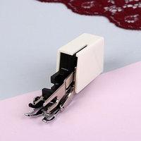 Лапка для швейных машин шагающая, верхний транспортёр 5 мм, цвет металлик/белый, AU-118