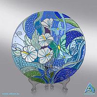 Стеклянная тарелка «Белый Гибискус» (Сувенир)