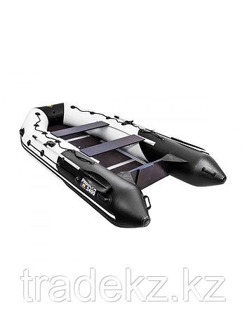 Лодка ПВХ Ривьера Максима 3400 СК комби светло-серый/черный, фото 2