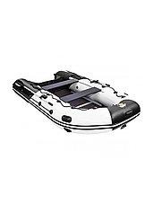 Лодка ПВХ Ривьера Максима 3400 СК комби светло-серый/черный, фото 3