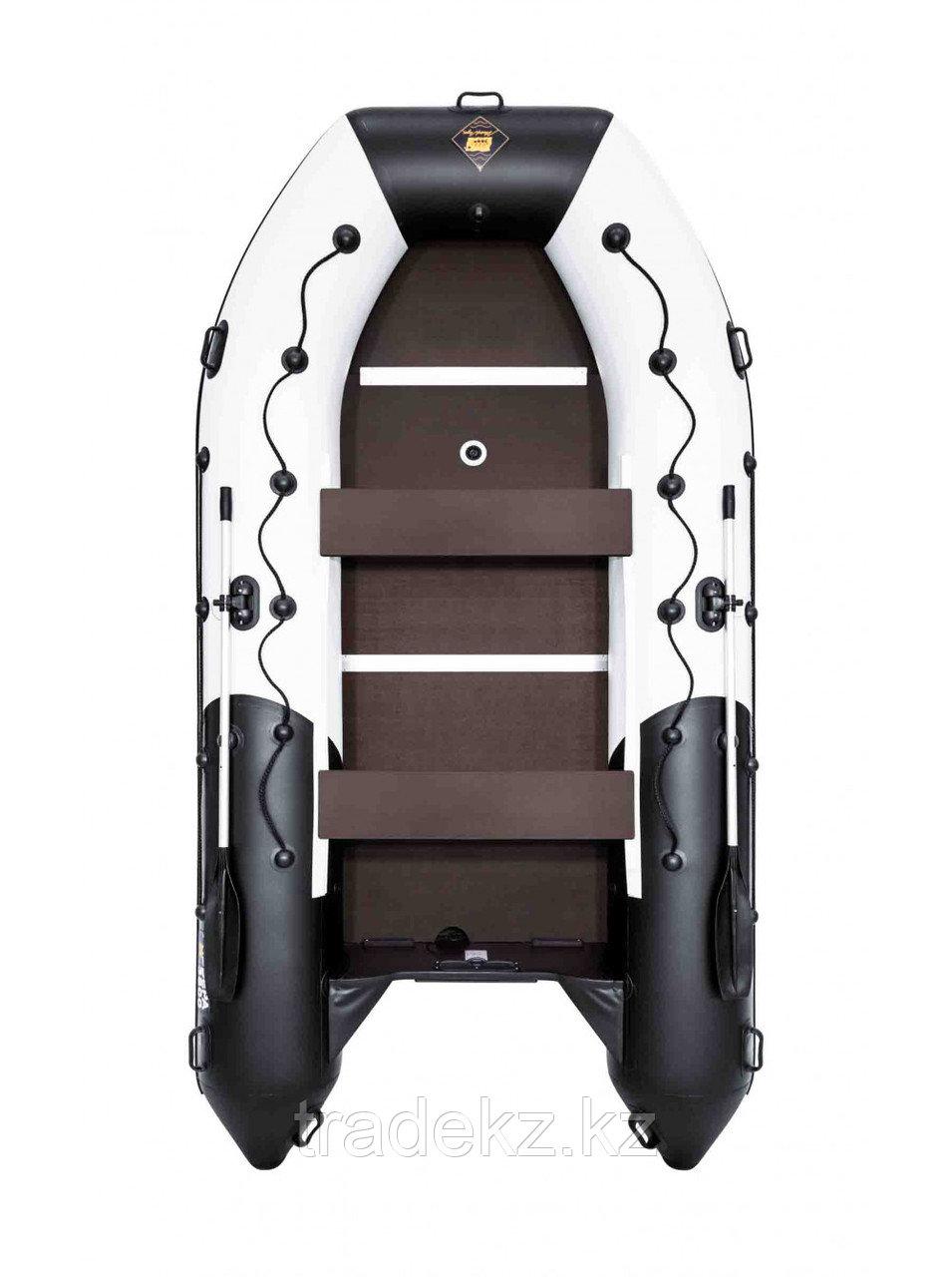 Лодка ПВХ Ривьера Максима 3800 СК комби светло-серый/черный