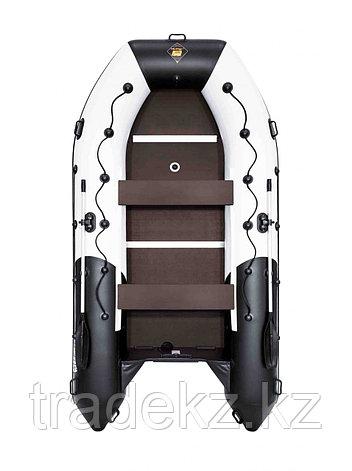 Лодка ПВХ Ривьера Максима 3800 СК комби светло-серый/черный, фото 2