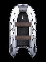 Лодка ПВХ РИВЬЕРА 3200 НДНД ГИДРОЛЫЖА КОМБИ СВЕТЛО-СЕРЫЙ/ГРАФИТ, фото 1