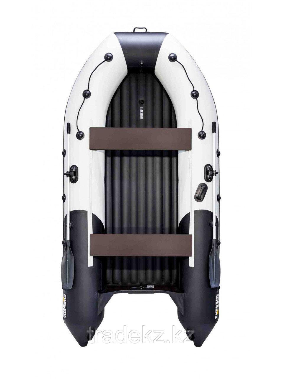 Лодка ПВХ Ривьера 3600 Килевое НД светло-серый/черный