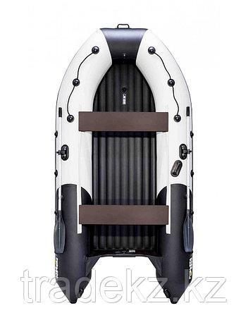Лодка ПВХ Ривьера 3600 Килевое НД светло-серый/черный, фото 2