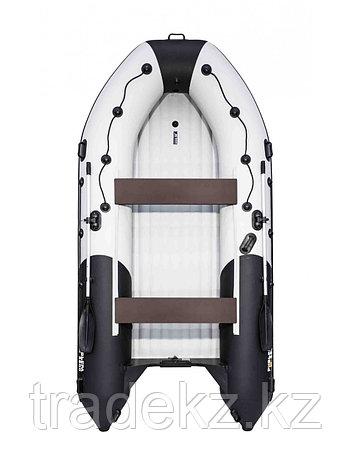 Лодка ПВХ Ривьера 3800 Килевое НД комби светло-серый/черный, фото 2
