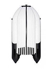 Лодка ПВХ Ривьера 3800 Килевое НД комби светло-серый/черный, фото 3