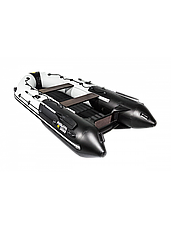 Лодка ПВХ  Ривьера 3600 НДНД Гидролыжа комби светло-серый/графит, фото 2