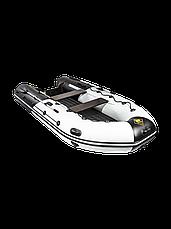 Лодка ПВХ  Ривьера 3600 НДНД Гидролыжа комби светло-серый/графит, фото 3
