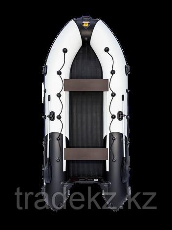 Лодка ПВХ Ривьера 4000 НДНД Гидролыжа комби светло-серый/черный, фото 2