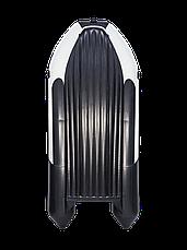 Лодка ПВХ Ривьера 4000 НДНД Гидролыжа комби светло-серый/черный, фото 3