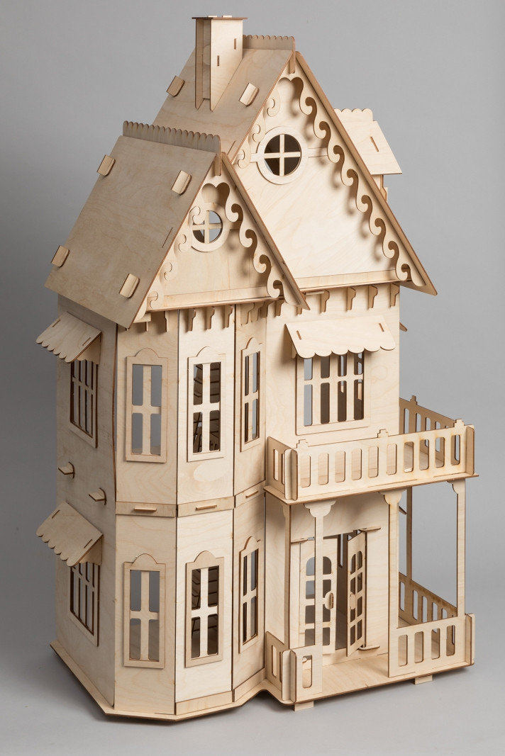 Кукольный эко домик в готическом стиле