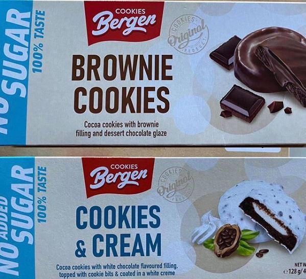 Диабетическое печенье Bergen Cookies 128 гр