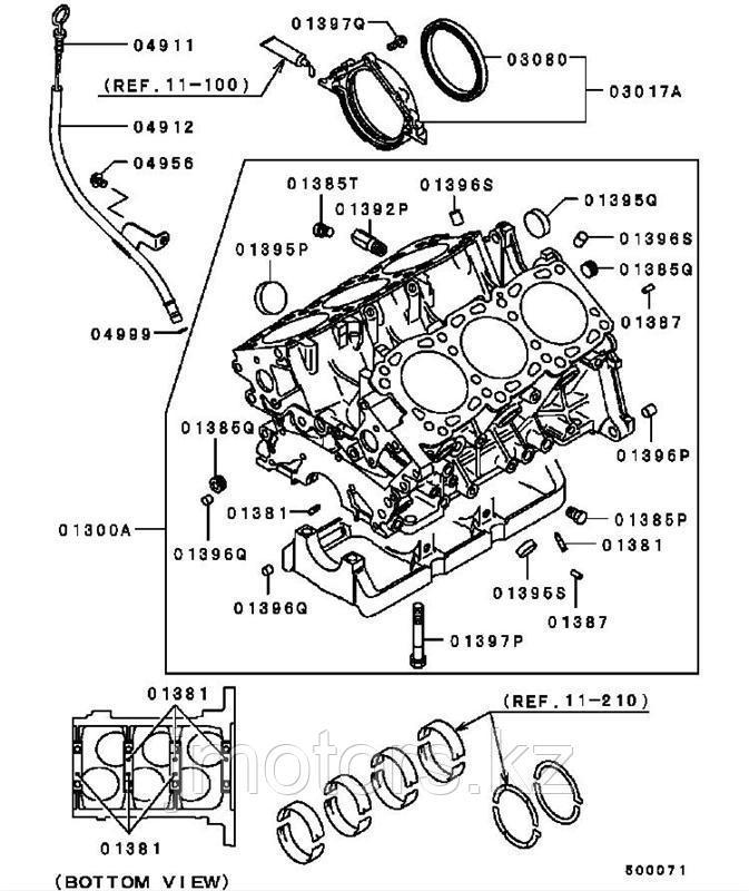 Сальник коренной Mitsubishi DMD372251