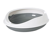 SAVIC Figaro Лоток круглый с бортиком серо белый  55cm x 48.5cm x 15.5cm