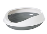 SAVIC Figaro Лоток круглый с бортиком серо белый  55cm x 48.5cm x 15.5cm, фото 1